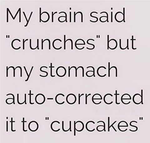 Crunches or cupcakes