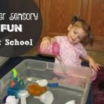 Water Sensory tot school