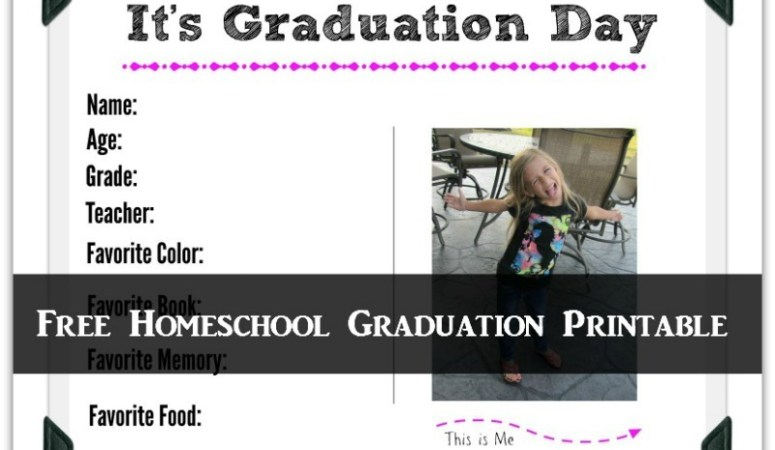 Homeschool Graduation Printable