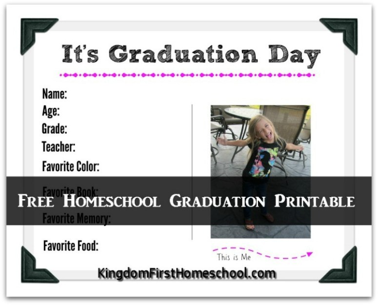 Free Homeschool Graduation Printable