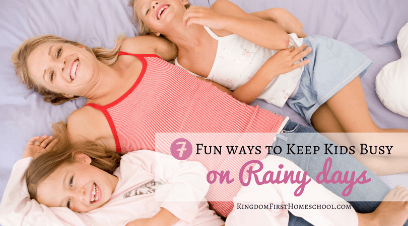 """It's raining again and your kids have begun the chorus of """"I'm bored"""" Here are 7 fun ways to keep kids busy on rainy days."""