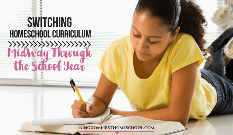 Switching Homeschool Curriculum Midway through the School Year