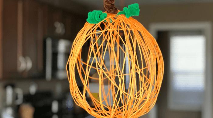 Cutest Little Yarn Pumpkin Craft for Older Kids