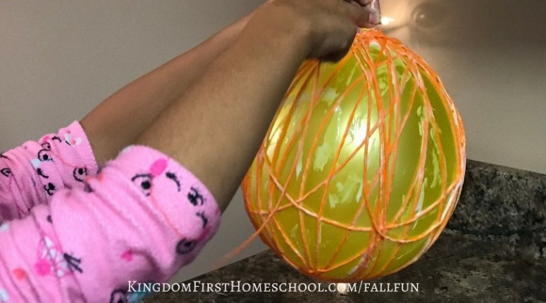 Yarn Pumpkin Craft