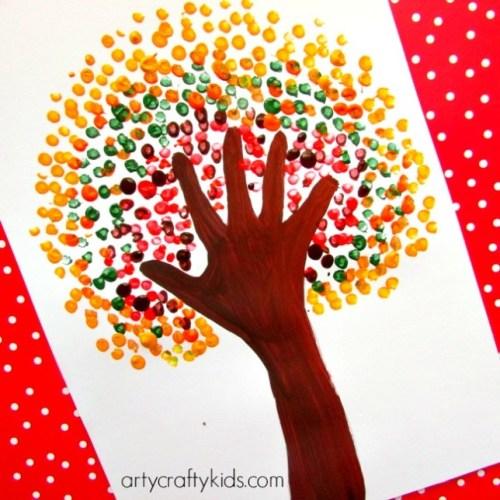 handprint autumn tree