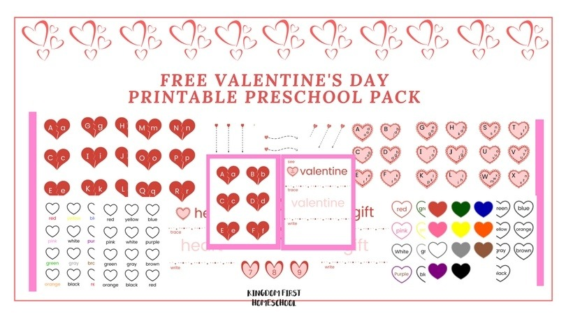 Download this free Valentine's Day preschool pack and give your preschoolers some extra practice while making it fun!