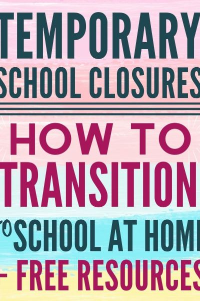 Tips For Temporary School at Home, Free Homeschool Curriculum and Activities to Do with Your Kids if Stuck Indoors for Long Periods of Time During School Closures and Possible Quarantine Situations.