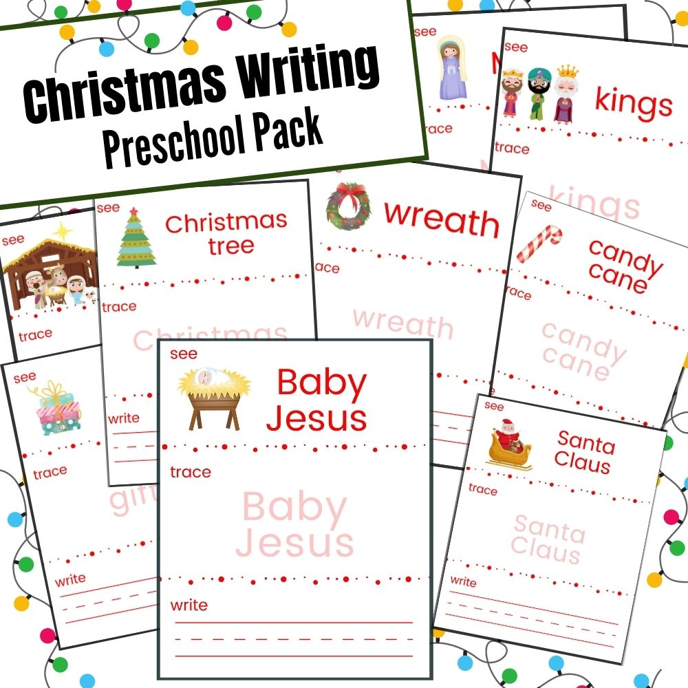 Christmas Writing Preschool Pack
