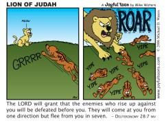 Lion of Judah - Deuteronomy 28:7