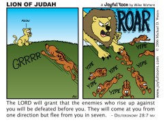 Lion of Judah - Deuteronomy 28:7
