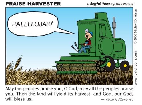 Praise Harvester - Psalm 67:5-6