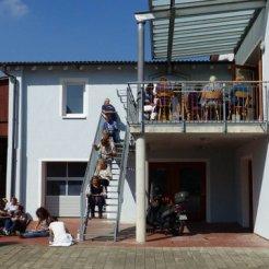 Mittagspause auf der Dachterrasse