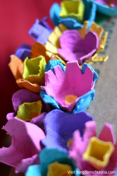 egg crate flowers