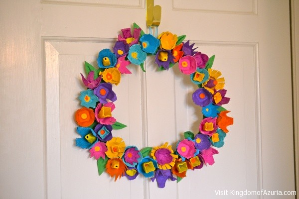Egg Crate Wreath Flowers