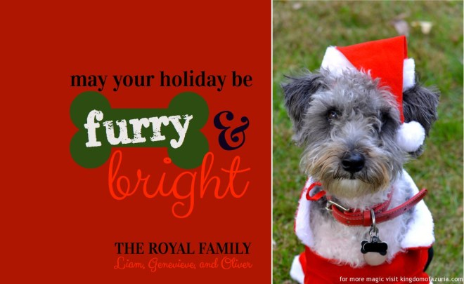 FREE Christmas Card Design Furry and Bright Pup KINGDOMOFAZURIA.COM