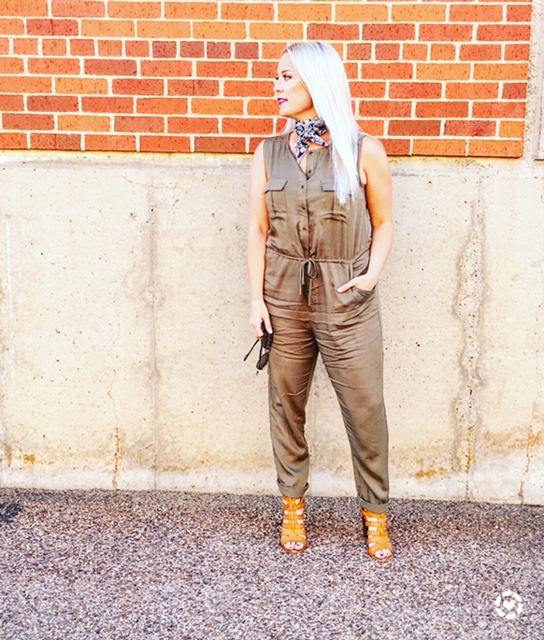 military inspired jumpsuit