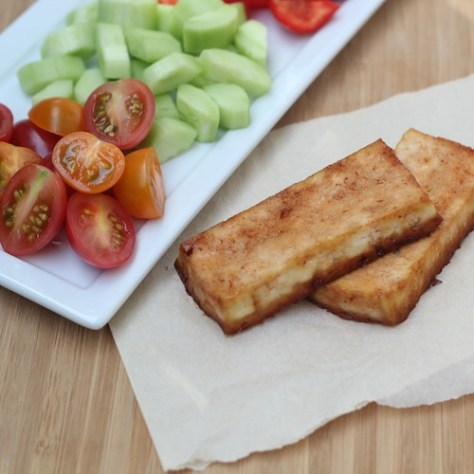Honey Sriracha Baked Tofu
