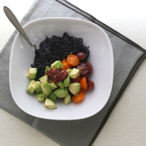 Black Ramen Veggie Bowl