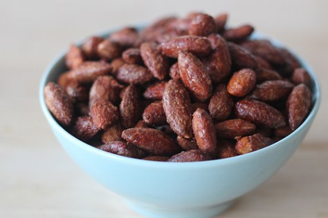 maple and spice almonds