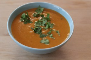 Red Pepper and Yellow Split Pea Soup