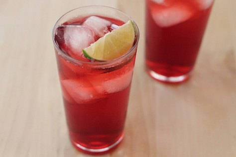 Hibiscus Green Tea Soda