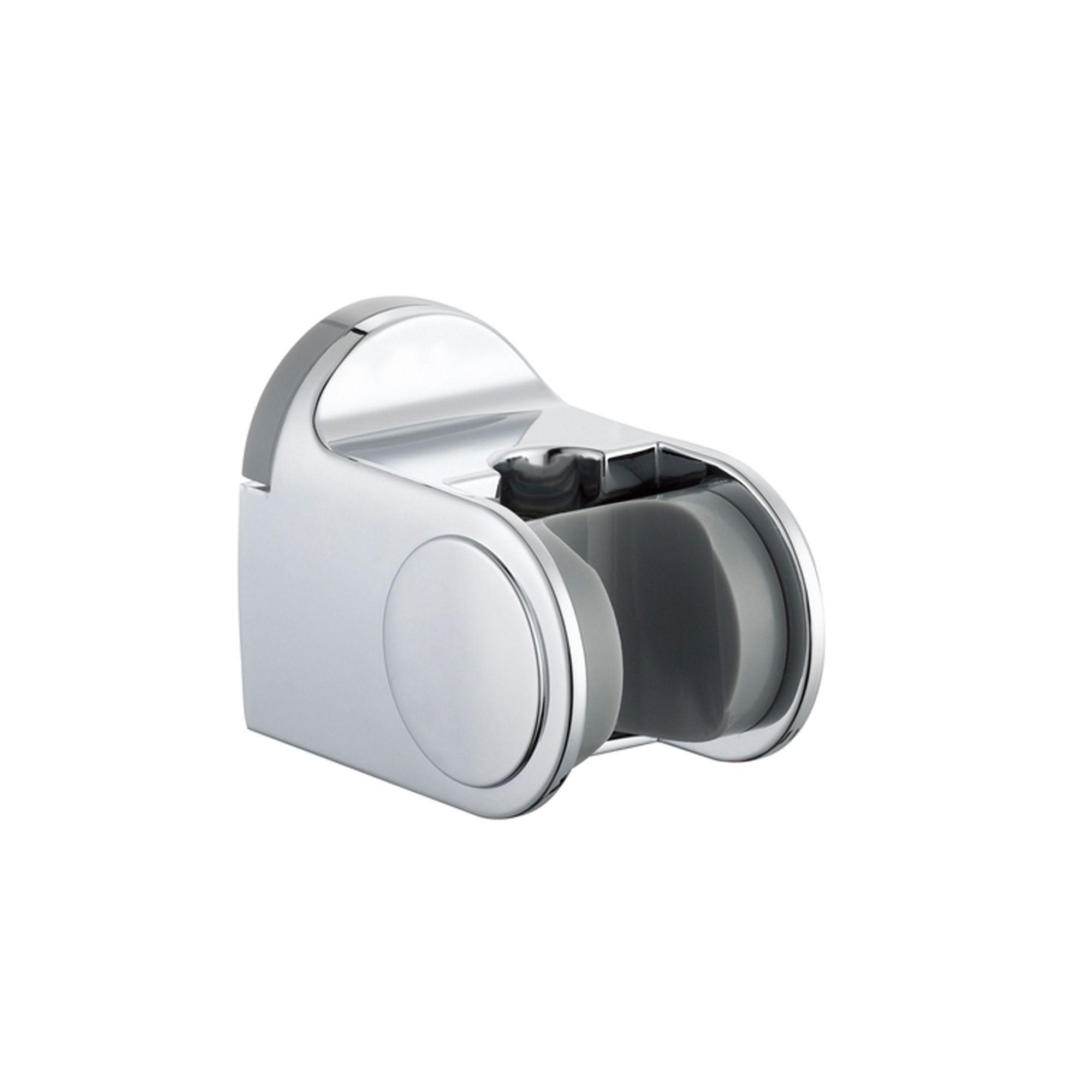 B Q Silver Chrome Effect Shower Head Holder Departments Diy At B Q