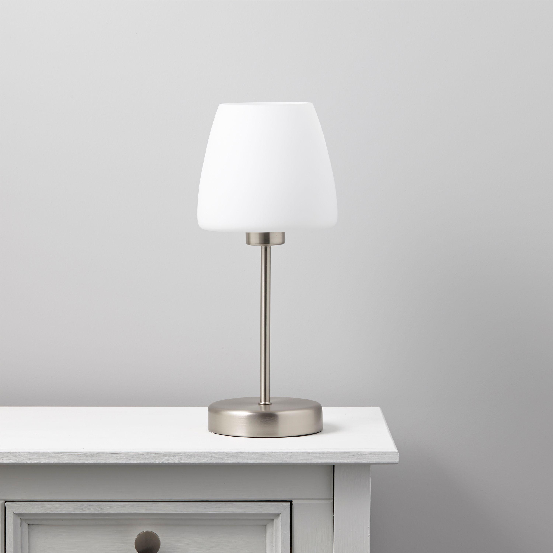 Faith White Table Lamp Departments DIY At BampQ