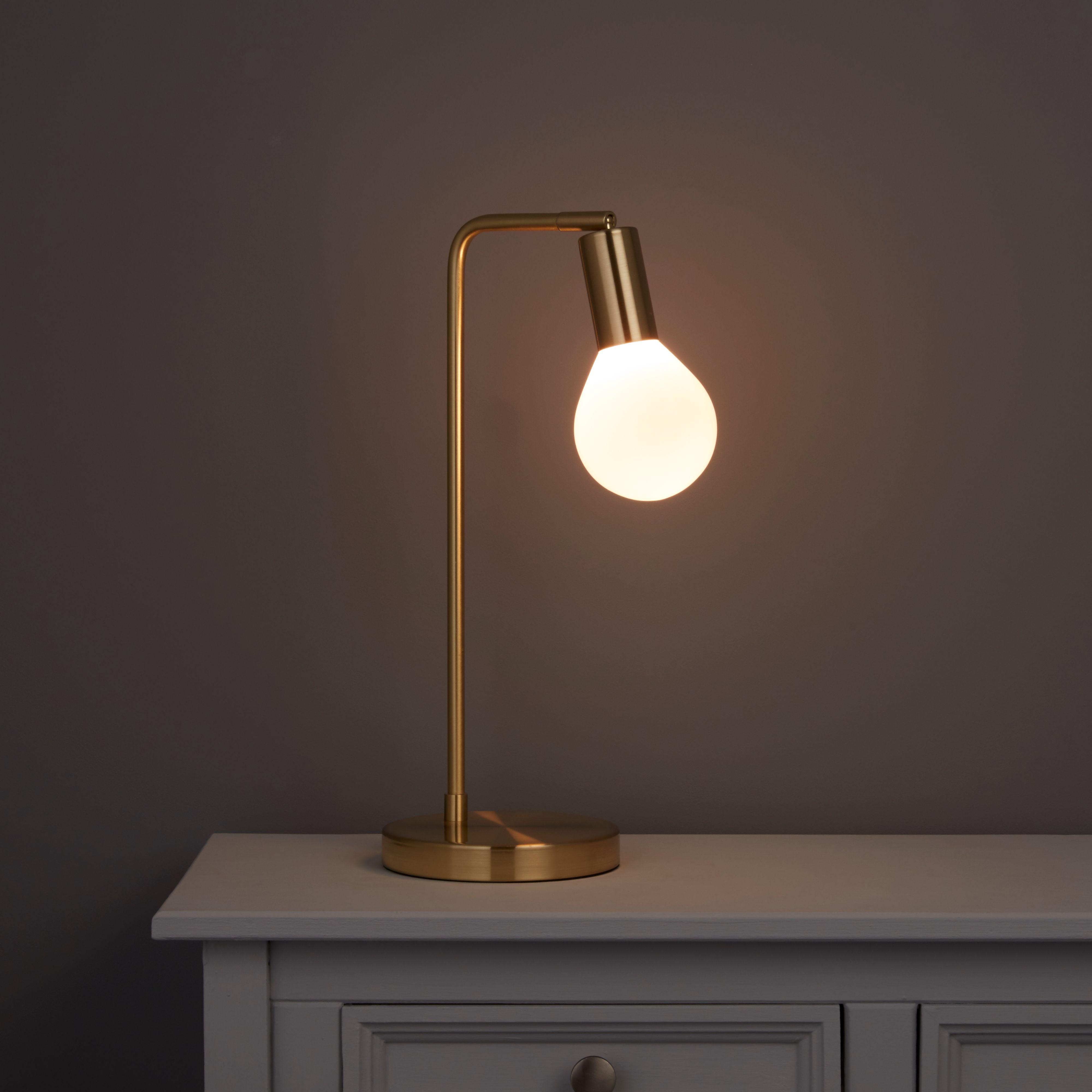 Channing Matt Gold Effect Led Table Lamp Departments Diy At B Q