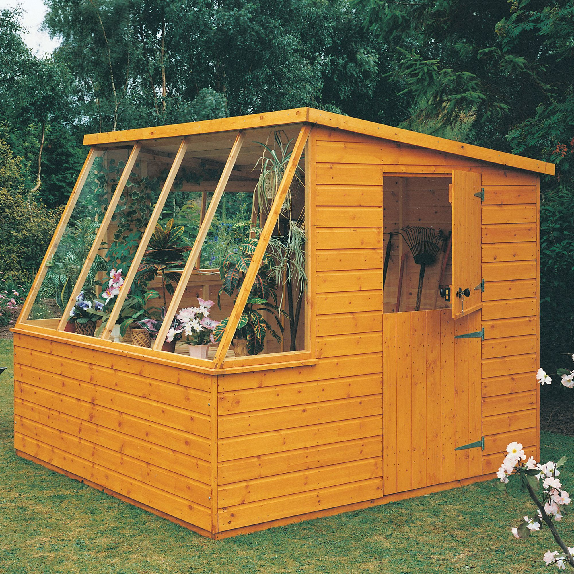 8x8 Iceni Pent Shiplap Wooden Shed Departments DIY At BampQ