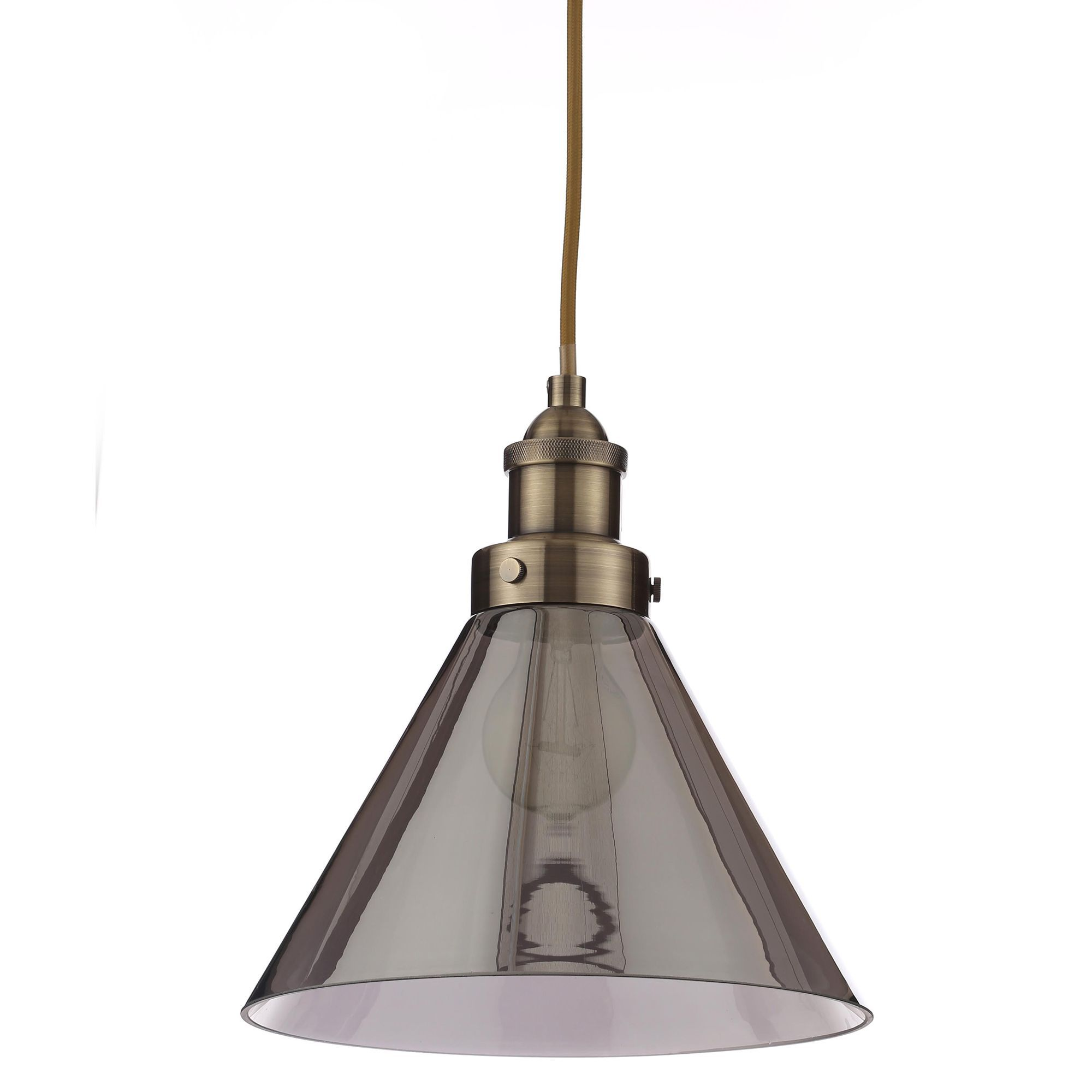 Dafyd Smoked Glass Pendant Ceiling Light Departments