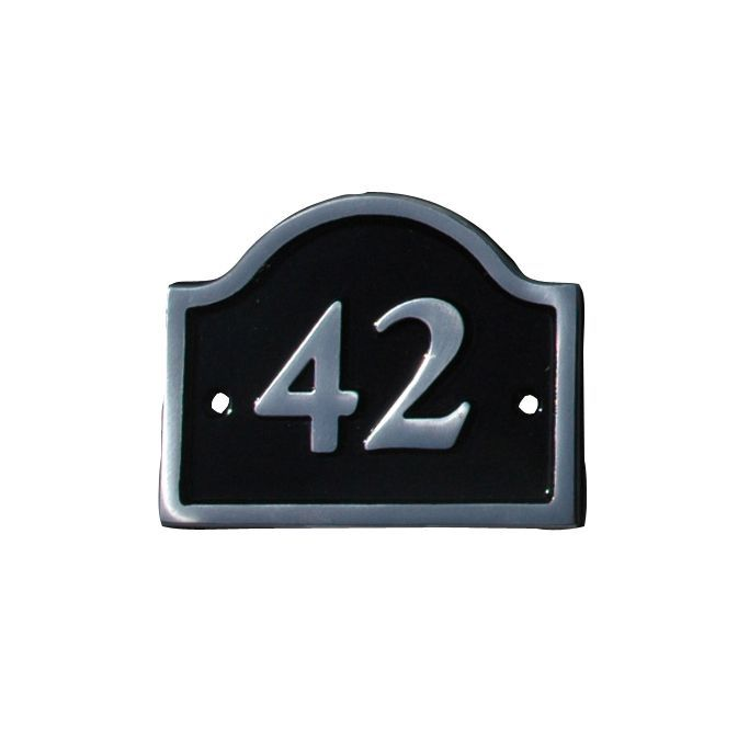 Black Aluminium House Plate Number 42 Departments DIY At BampQ