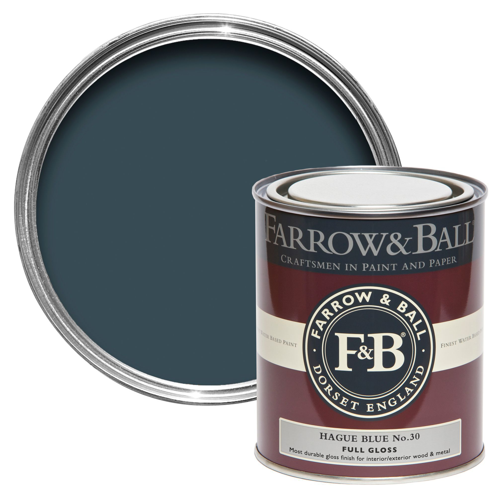 Farrow Amp Ball Hague Blue No 30 Gloss Paint 0 75l
