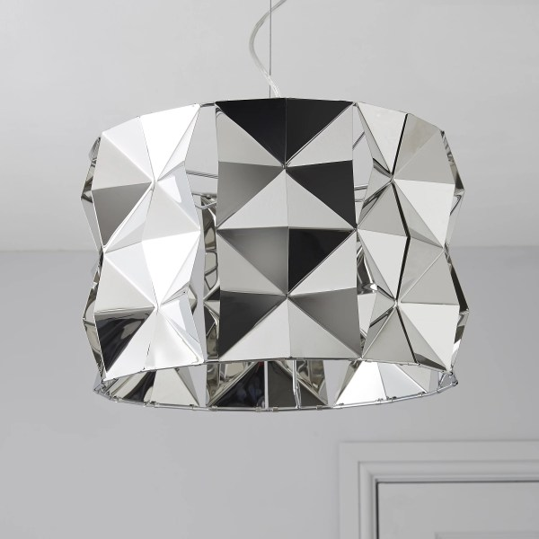 Ciara Faceted Chrome effect Pendant ceiling light   Departments     Ciara Faceted Chrome effect Pendant ceiling light   Departments   DIY at B Q