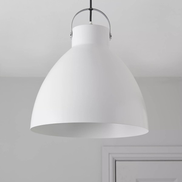 Tibbon White Pendant ceiling light   Departments   DIY at B Q Tibbon White Pendant ceiling light   Departments   DIY at B Q