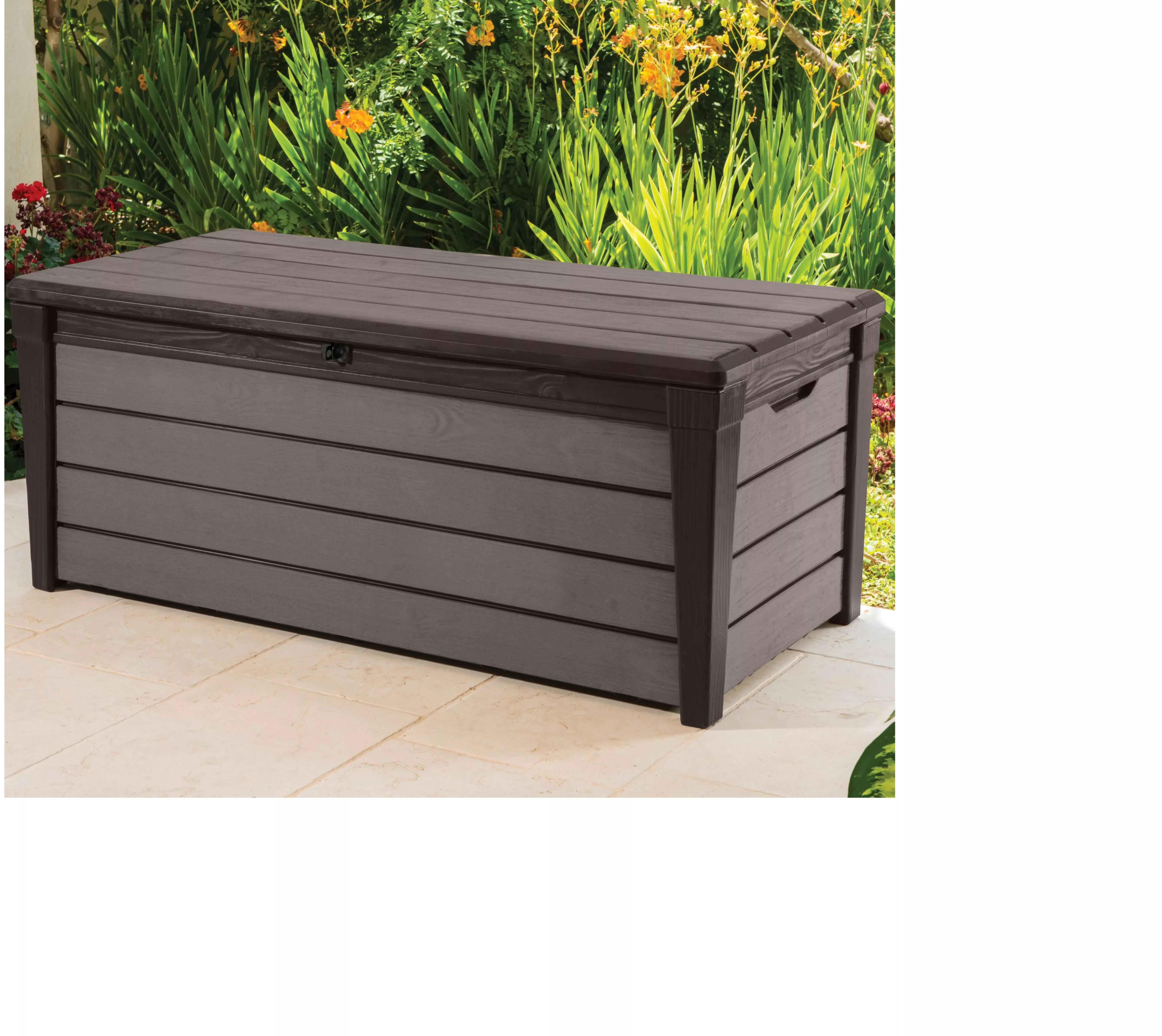 Brushwood Plastic Wood Effect Plastic Garden Storage Box