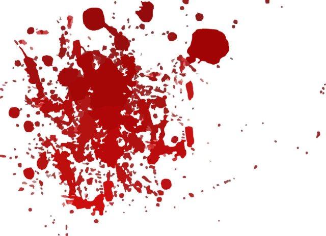 Blood Bath Halloween Theme Bloody Splatter