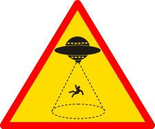 Danger Alien abductions sign Halloween