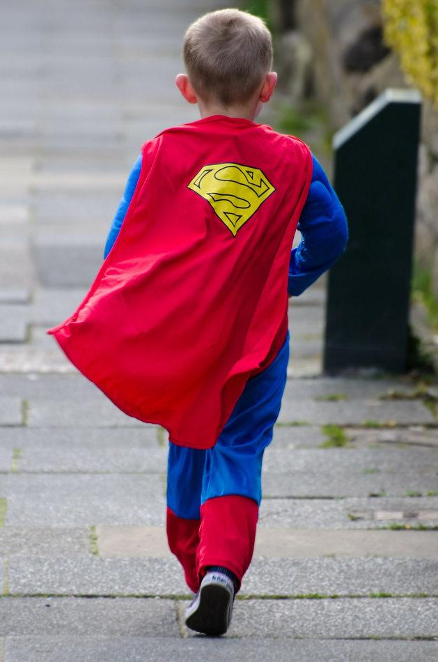 Boy in Halloween Costume Superman