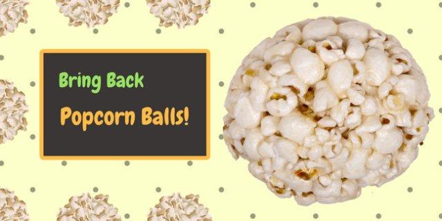 Popcorn Balls Halloween Tradition