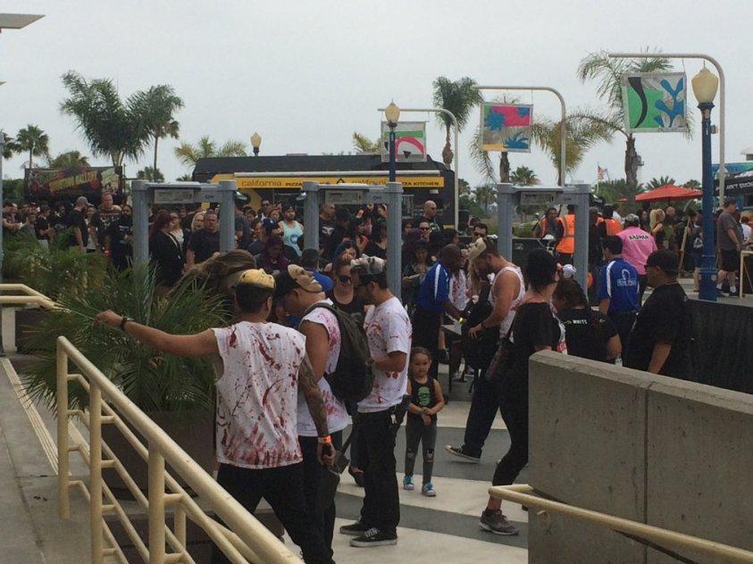 Crowd at Midsummer Scream Long Beach 2018