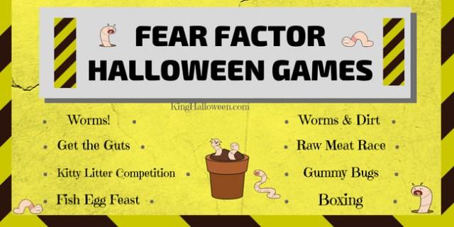 Infographic FEAR FACTOR HALLOWEEN GAMES