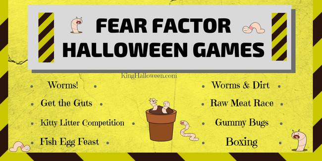 FEAR FACTOR Fun Halloween Games for Kids