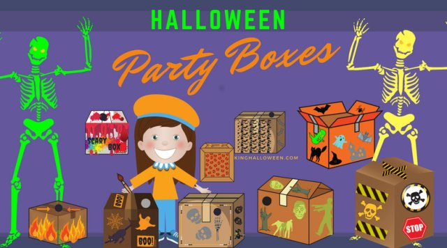 Halloween Party Boxes Game Graphic