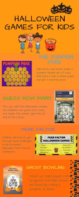Infographic Halloween Games For Kids-3