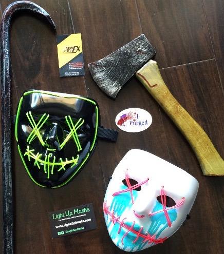 Purge Halloween stuff company info