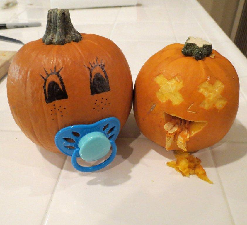 Baby Pumpkin Throwing Up