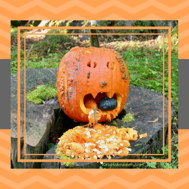 pumpkin throwing up graphic