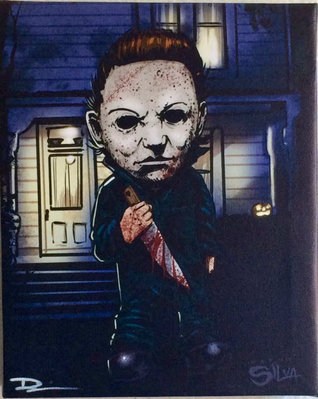 Michael Myers the Shape Horror Villains Canvas Painting