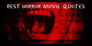 Best Horror Movie Quotes Red background mouth screaming