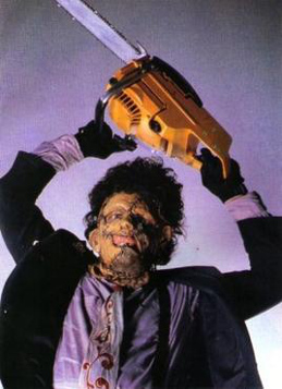 Horror Icons Leatherface with chainsaw